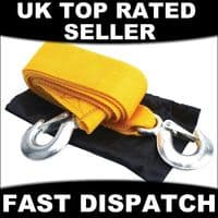 2 TON TONNE AA TOW TOWING ROPE HEAVY DUTY EMERGENCY ROAD CAR BREAKDOWN RECOVERY